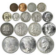Collector's Set Of 16 U.s. Coins - Circulated, Uncirculated And Proof
