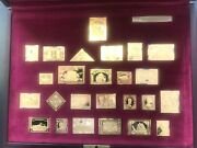 Canada Gold Plated Sterling Silver Rare Complete Stamp Set