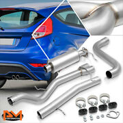 For 14-18 Ford Fiesta St 1.6l Turbo Dual Exit 3 Outlet Catback Exhaust System
