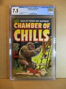 Chamber Of Chills 14 Cgc 7.5 Ow/w Beauty And Beast Vf Pre-code Horror 1952 Harvey
