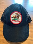 Vintage Winchester Rifle Gun Patch Snapback Hat Usa Made