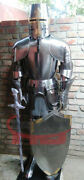 Templar Suit Of Armour Medieval Knight Combat Full Body Armour With Sword/stand