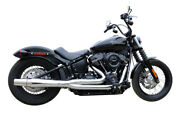 Thunderheader X-series 2 Into 1 Chrome Exhaust System Pipes Harley Softail 18+