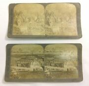 Two Underwood Stereoscopes Jerusalem From Mount Of Olives And Garden Of Gethsemane