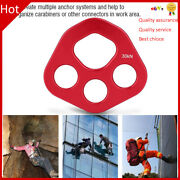 Outdoor 4holes Paw Rigging Plate Rock Climbing Multi Anchor Point Connector Gear