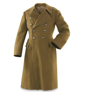 Wool Trench Great Coat Romanian Military Surplus Issue Snow Collectible Outdoor
