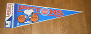 1989 And 1990 Detroit Pistons Pennant Back To Back Nba Champs W/ Snoopy Finals