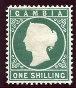 Gambia 1880 Qv 1s Green Mlh. Sg 19a.