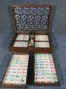 Antique Chinese Mahjong Game Set, Pre 1920s , 152 Pieces