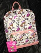 Luv Betsey Clear Coral Backpack School/travel Bag Nwt Retail 98