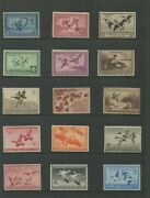 United States Federal Hunting Duck Stamps Rw1-rw60 Mint Lightly Hinged Vf Set