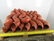 Grinnell 21040s 4 Orange Grooved Ductile Iron Grvlk 7050 90° Elbow Lot Of 49