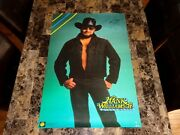 Hank Williams Jr Rare Autographed Signed Poster Funky Ent 1988 Country Music Wow
