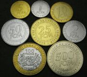 Central African States 1 Franc / 500 Francs 2006 - Lot Of 8 Coins - Unc
