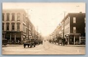 Chambersburg Pa Main Street Antique Real Photo Postcard Rppc Coca Cola Sign