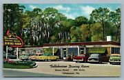 Tallahassee Fl Motor Hotel And Dining Room Advertising Vintage Postcard