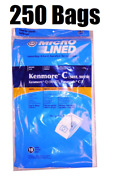250 Dvc Bags For Sears Kenmore Vacuum Cleaner Bags 5055 50557 50558 C Q Canister