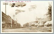 Casey Ill Collage Zeppelin Airplanes Antique Real Photo Postcard Rppc Aviation