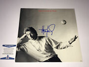 Huey Lewis And The News Autographed Vinyl Record Small World Bas Coa Free Shipping