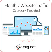 Monthly Website Traffic - Targeted By Category - Google And Alexa Safe