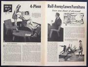 4 Piece Lawn Furniture 1956 Howto Build Plans Plywood Modern Eames Era