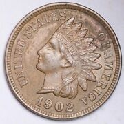 1902 Indian Head Small Cent Choice Unc Free Shipping E145 Kcm