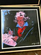Andy Warhol Beethoven On Rosenthal Porcelain Plaque Ltd. Ed. Of Only 49