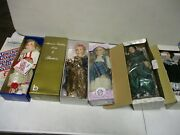 5 Assorted Porcelain Dolls With Brinn, Heritage Mint, Classic Treasures