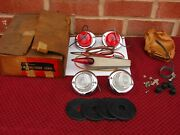 Vintage Nos U.s. Pioneer Turn Signal Switch Kit With Glass Light Lens Street Rod
