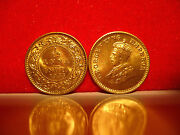 1933 India 1/12 Anna Coin.finished In 24ct Gold Bunc New