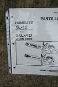 Homelite Xl 12 Pyramid Reed System Sxl Ao Chain Saw Parts List More In Store V