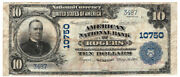 1902 Bs 10 The American Nb Of Rogers Arkansas. Ch 10750. Fine. Y00000332