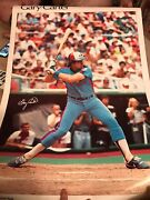 Extremely Rare Gary Carter Late 1970s Montreal Expos Sports Illustrated Poster