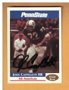 John Cappelletti Autographed 1992 Front Row Penn State Football Card Signed