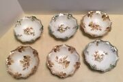 Six Antique Rs Prusia Marked Berry Fruit Bowls