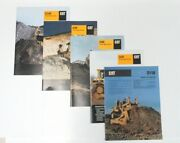 Lot Of Caterpillar Track Type Tractor Sales Brochures D11n,d6r,8r,9r,10r, 1996