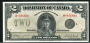 1923 2 Dominion Of Canada. Ef-40 Black Seal. Group 4. Dc-26l. W-976866