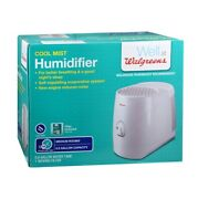 Cool Mist Humidifier Walgreens 18 Hr Run Time 0.8 Gallon Filter Included B286