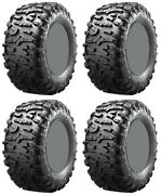 Four 4 Maxxis Bighorn 3.0 Atv Tires Set 2 Front 27x9-14 And 2 Rear 27x9-14