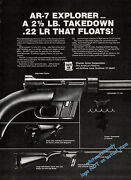 1980 Charter Arms Ar-7 Explorer .22 Lr Rifle Print Ad Also Appeared In 1981