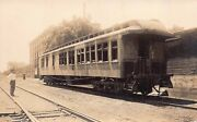 Real Photo Postcard Old Wooden Railroad Train Car On Side Track127737