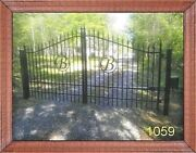 Veterans Discount Inc Post Pkg Driveway Gate 11' Ft Wd Steel Iron Home Security