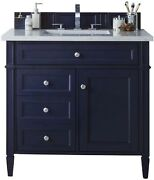 James Martin 650-v36-vbl-3gex Brittany 36 Single Vanity Victory Blue With 3...