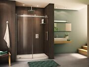 Fleurco Novara Bowfront Sliding Curved Glass Door And Fixed Panel With Hardwa...