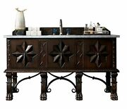Balmoral 60 Single Vanity Cabinet, Antique Walnut, With 3 Cm Charcoal Soapst...