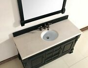Brookfield 60 Single Cabinet Antique Black With 3 Cm Galala Beige Top W/ov...