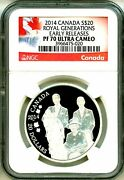 2014 Canada S20 Royal Generations Early Release Ngc Pf70 Ultra Cameo