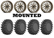Kit 4 Sti Outback Max Tires 35x9-20 On Itp Hurricane Bronze Wheels Can