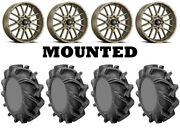 Kit 4 High Lifter Outlaw 3 Tires 33x9-18 On Itp Hurricane Bronze Wheels Ter