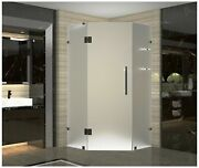 Aston Neoscape Gs 34 X 34 X 72 Completely Frameless Neo-angle Frosted Glas...